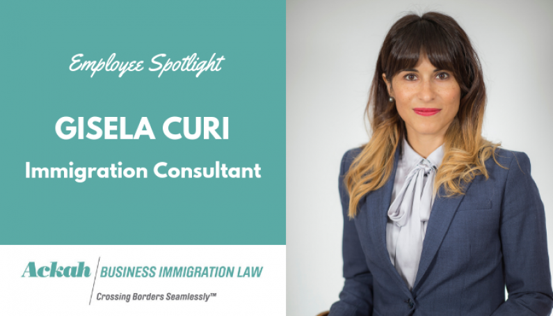 Employee Spotlight: Gisela Curi, Immigration Consultant
