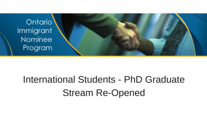 International Students PhD Graduate Stream