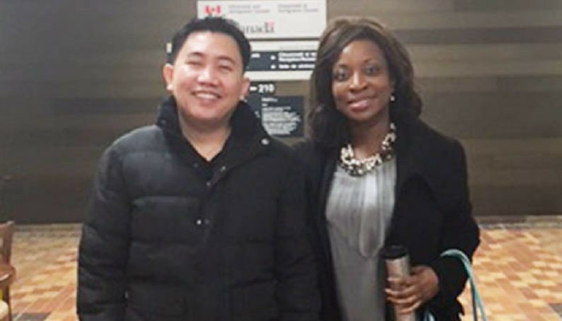 Represented by Calgary immigration lawyer Evelyn Ackah after 4 years of submitting applications and paperwork on March 14 Reyes met with Citizenship and Immigration Canada in Calgary and was granted Canadian permane