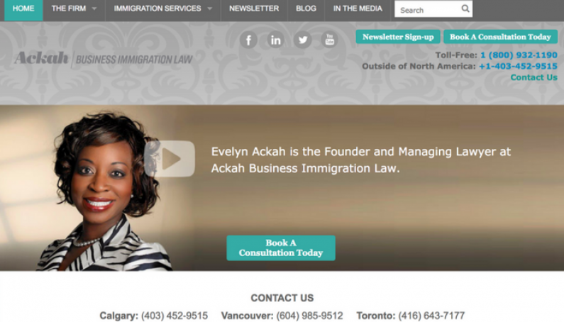 Weve Updated the Ackah Law Website Evelyn Ackah Calgary Immigration Lawyer