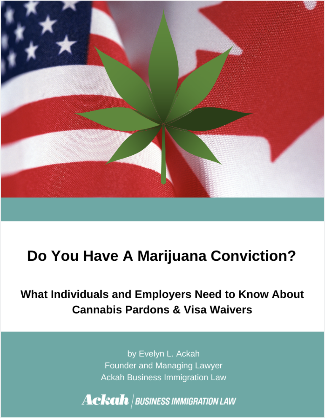 Do You Have A Marijuana Conviction? Cross Border Travel: What Individuals and Employers Need to Know About Cannabis Pardons & Visa Waivers Free eBook